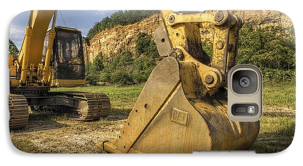 Excavator At Big Rock Quarry - Emerald Park - Arkansas Galaxy S7 Case