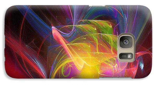 Galaxy Case featuring the digital art Exceeding Joy by Margie Chapman