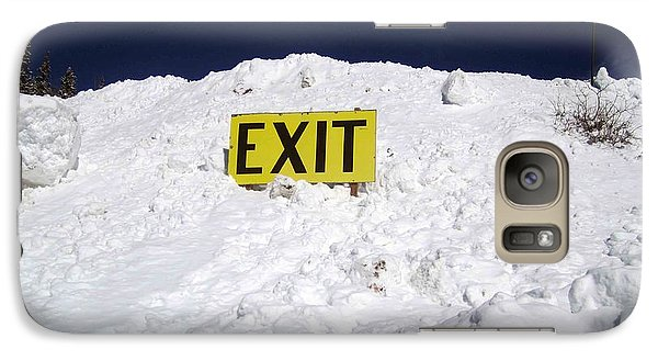 Galaxy Case featuring the photograph Exit by Fiona Kennard
