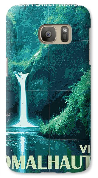 Aliens Galaxy S7 Case - Exoplanet 04 Travel Poster Fomalhaut B by Chungkong Art