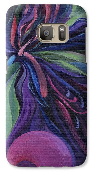 Galaxy Case featuring the painting Exotic Flower by Natasha Denger