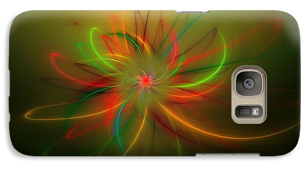 Galaxy Case featuring the digital art Exotic Lotus by Hanza Turgul