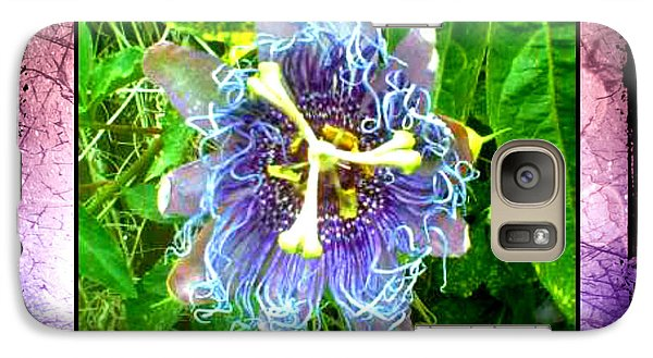 Galaxy Case featuring the photograph Exotic Strange Flower by Absinthe Art By Michelle LeAnn Scott