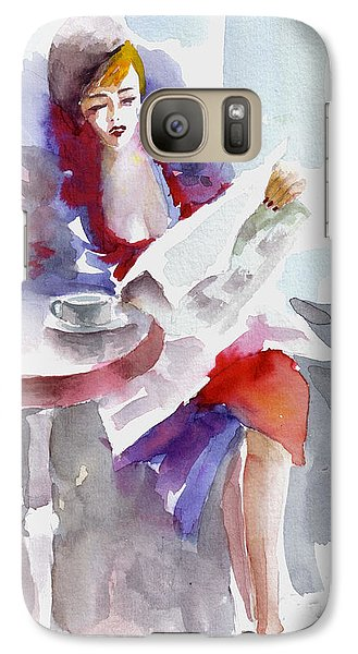 Galaxy Case featuring the painting Expectation.. by Faruk Koksal