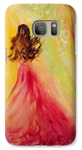 Galaxy Case featuring the painting Expecting by Teresa Wegrzyn