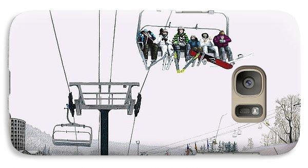 Galaxy Case featuring the painting Experience Seven Springs by Albert Puskaric