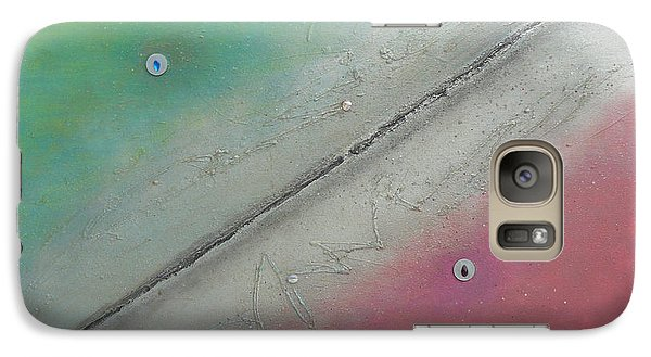Galaxy Case featuring the painting Exploration A by Mary Ann  Leitch
