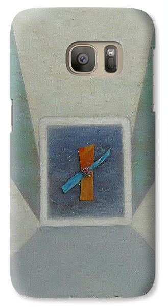 Galaxy Case featuring the painting Exploration B by Mary Ann  Leitch