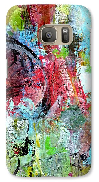 Galaxy Case featuring the painting Exploration by Katie Black