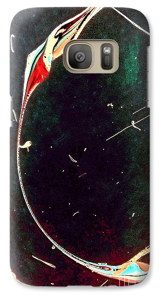 Galaxy Case featuring the painting Exploring New Depths by Jacqueline McReynolds