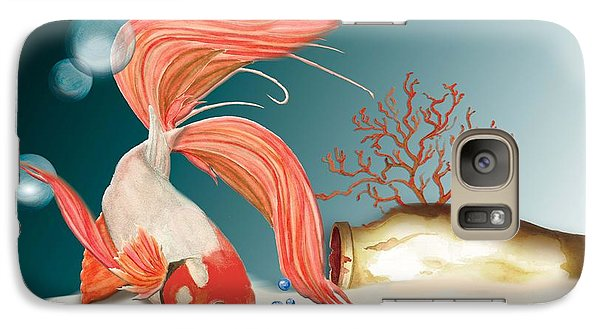 Galaxy Case featuring the painting Exploring The Deep by Anne Beverley-Stamps