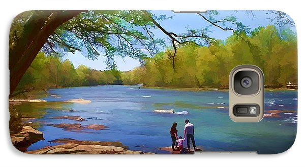 Galaxy Case featuring the photograph Exploring The River by Ludwig Keck