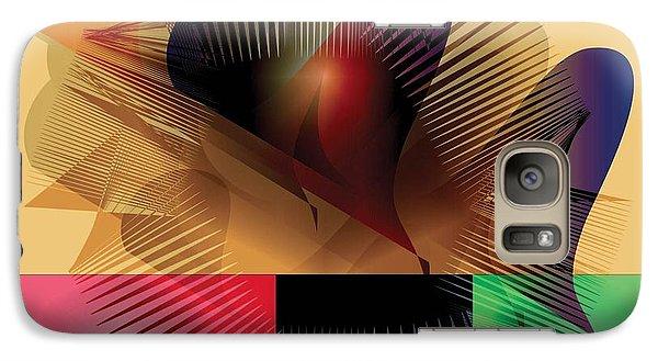 Galaxy Case featuring the digital art Explosion 2 by Iris Gelbart