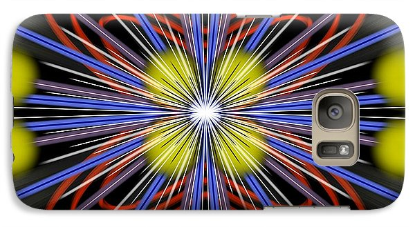 Galaxy Case featuring the digital art Explosion by Brian Johnson