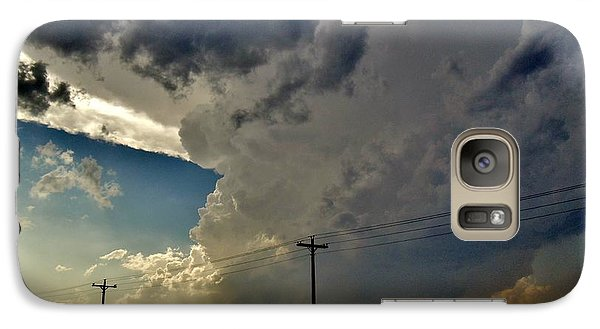 Galaxy Case featuring the photograph Explosive Texas Supercell by Ed Sweeney