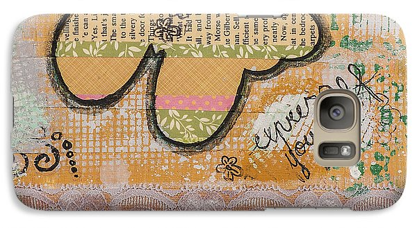 Galaxy Case featuring the mixed media Express Yourself Inspirational Art by Stanka Vukelic