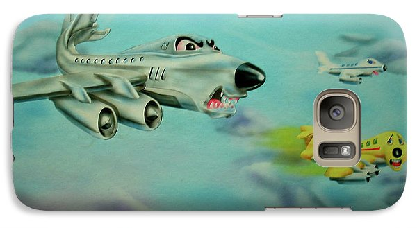 Galaxy Case featuring the painting Extreme Airline Mergers by Thomas J Herring