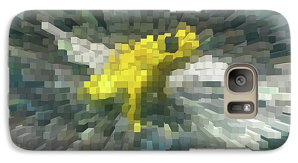 Galaxy Case featuring the photograph Extrude Yellow Frog by Donna Brown
