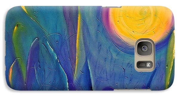 Galaxy Case featuring the painting Eye In The Sky by AmaS Art