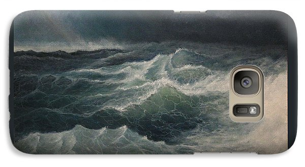 Galaxy Case featuring the painting Eye Of Storm by Mikhail Savchenko