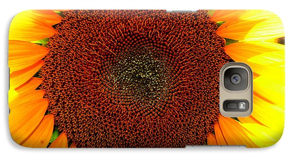 Galaxy Case featuring the photograph Eye Of The Flower 4 by Lyle Crump