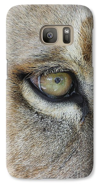 Galaxy Case featuring the photograph Eye Of The Lion by Judy Whitton