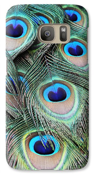 Galaxy Case featuring the photograph Eye Of The Peacock #2 by Judy Whitton