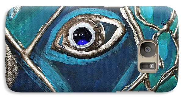 Galaxy Case featuring the painting Eye Of The Peacock by Cynthia Snyder