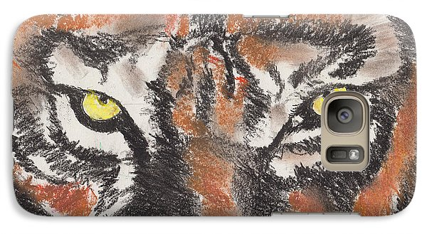 Galaxy Case featuring the pastel Eye Of The Tiger by David Jackson