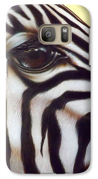 Galaxy Case featuring the painting Eye Of The Zebra by Darren Robinson