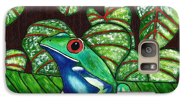 Galaxy Case featuring the painting Eye On You by Laura Forde