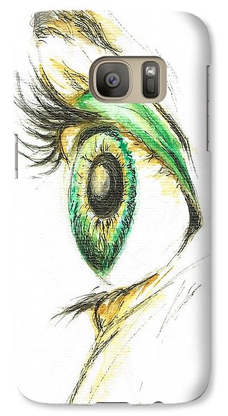 Galaxy Case featuring the painting Eye Opener by Teresa White