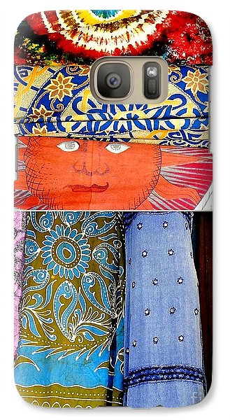 Galaxy Case featuring the photograph New Orleans Eye See Fabric In Lifestyles by Michael Hoard