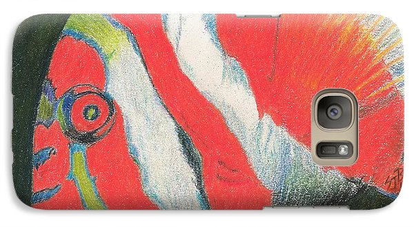 Galaxy Case featuring the drawing Eye There by Sheila Byers