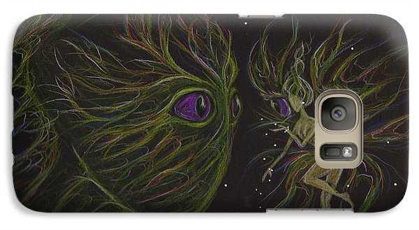 Galaxy Case featuring the drawing Eye To Eye by Dawn Fairies