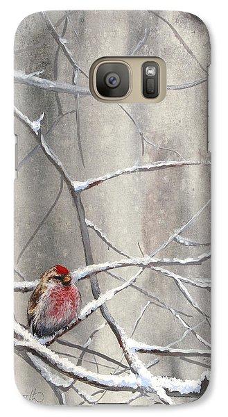 Eyeing The Feeder Alaskan Redpoll In Winter Galaxy S7 Case