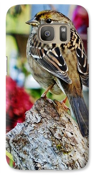 Galaxy Case featuring the photograph Eyeing The Sparrow by VLee Watson