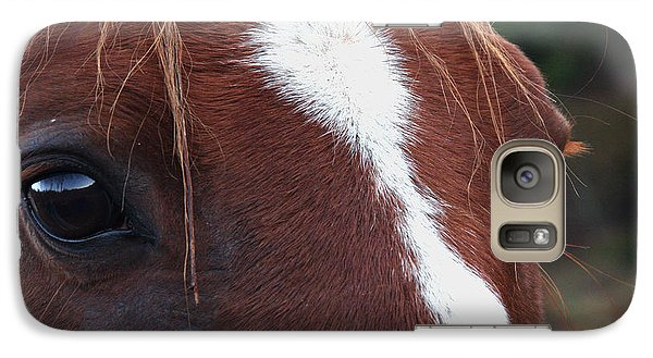 Galaxy Case featuring the photograph Eyes Are The Windows To The Soul by Peggy Collins