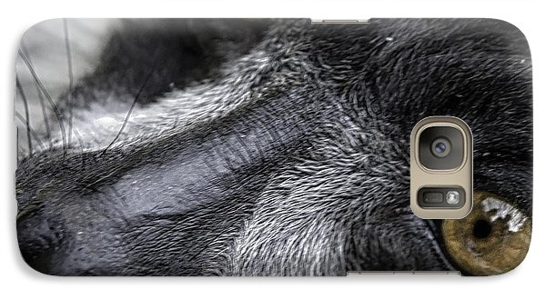 Galaxy Case featuring the photograph Eyes Of The Lemur by Chris Boulton