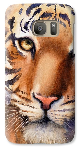 Galaxy Case featuring the painting Eyes Of The Tiger by Bonnie Rinier