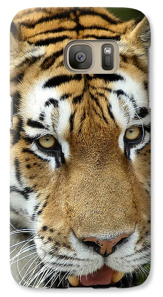 Galaxy Case featuring the photograph Eyes Of The Tiger by John Haldane