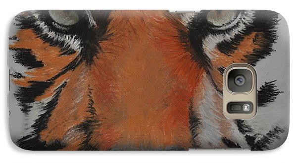 Galaxy Case featuring the pastel Eyes Of The Tiger by Linda Ferreira