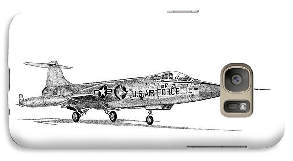 Galaxy Case featuring the drawing F-104 Starfighter by Arthur Eggers