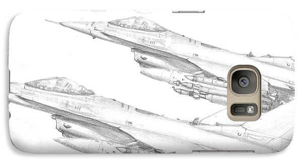 Galaxy Case featuring the digital art F-16's On Attack by Jim Hubbard