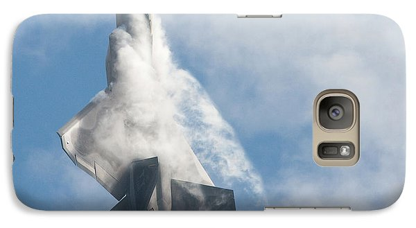 Galaxy Case featuring the photograph F-22 Raptor Creates Its Own Cloud Camouflage by Nathan Rupert