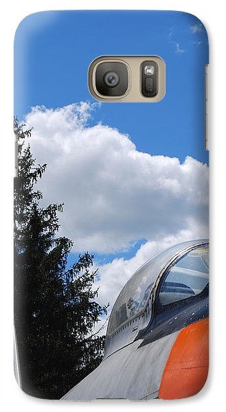Galaxy Case featuring the photograph F-860 Saber Jet Interception by Ramona Whiteaker