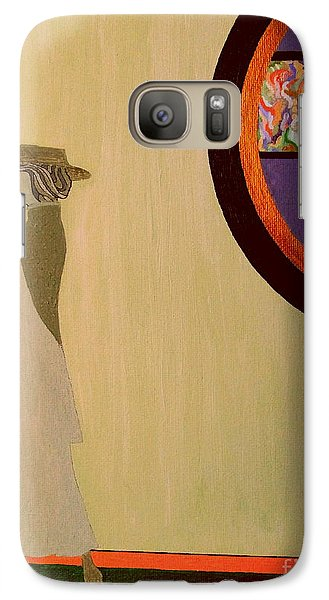Galaxy Case featuring the painting F Scott Waiting For Zelda by Bill OConnor