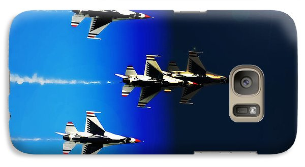 Galaxy Case featuring the photograph F16 Flight Into Space by DigiArt Diaries by Vicky B Fuller