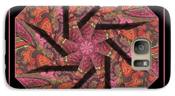 Galaxy Case featuring the photograph Fabric In A Spin by Barbara MacPhail