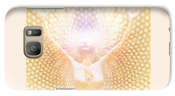 Galaxy Case featuring the painting Fabric Of Life by Robby Donaghey